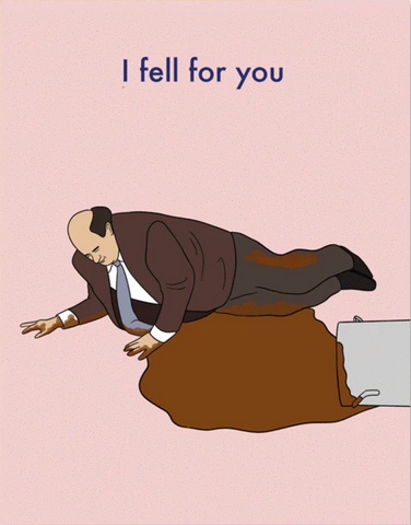 Kevin Fell For You Greeting Card