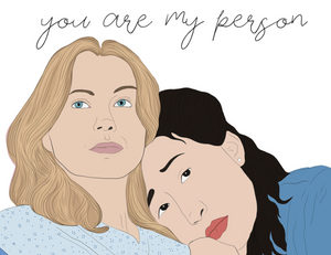 You're My Person - Party Mountain Paper Greeting Card - Ottawa, Canada