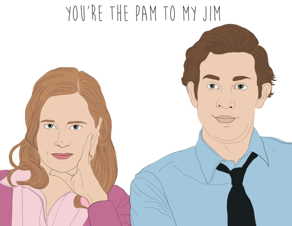 Pam To My Jim - Party Mountain Paper Greeting Card - Ottawa, Canada