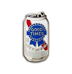 Good Times Beer Can Enamel Pin