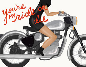 Ride Or Die - Slightly Stationery Greeting Card - Ottawa, Canada