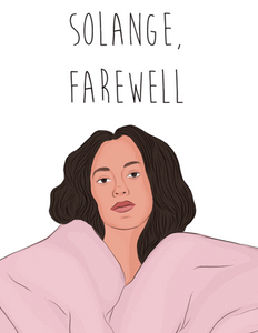 Solange, Farewell - Party Mountain Paper Greeting Card - Ottawa, Canada