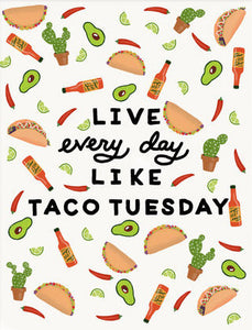Taco Tuesday - Slightly Stationery Greeting Card - Ottawa, Canada