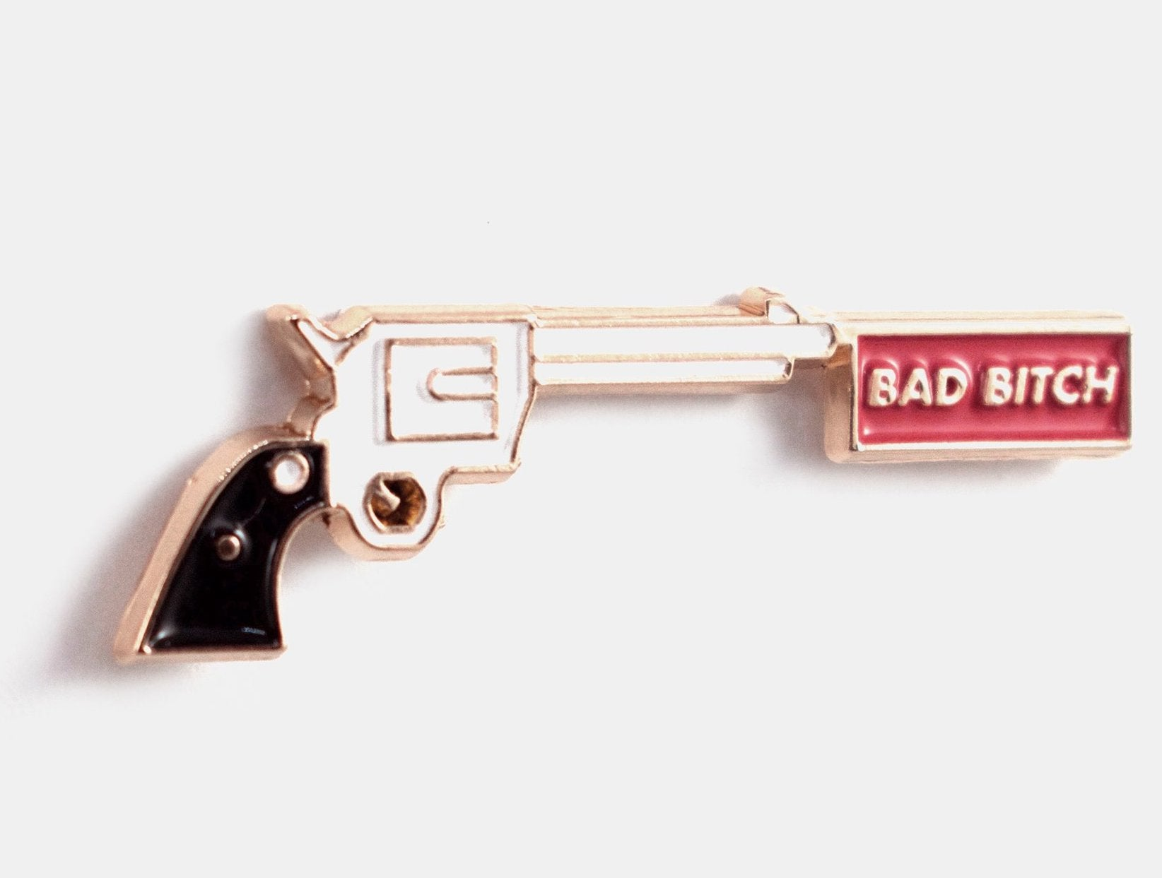Bad Bitch Gun Enamel Pin