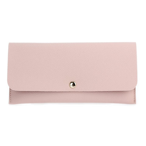 Flap-Over Wallet - Light Pink