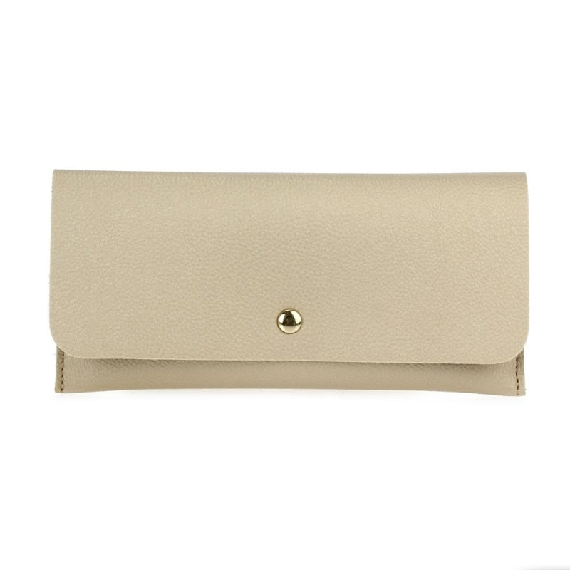 Flap-Over Wallet - Beige