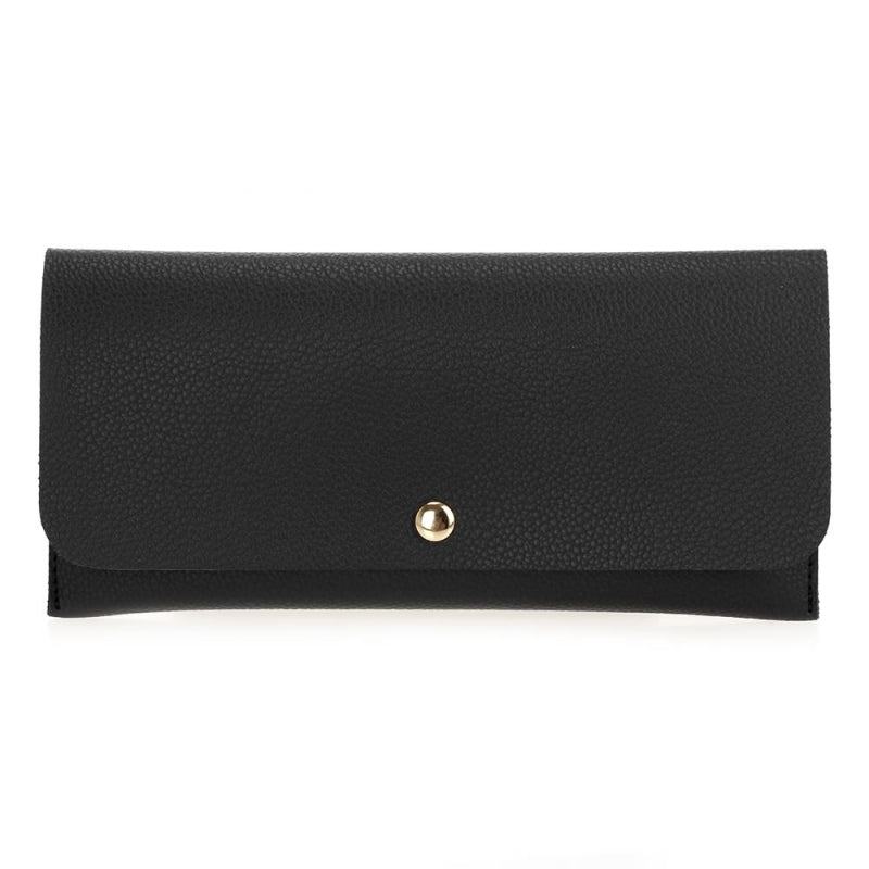 Flap-Over Wallet - Black