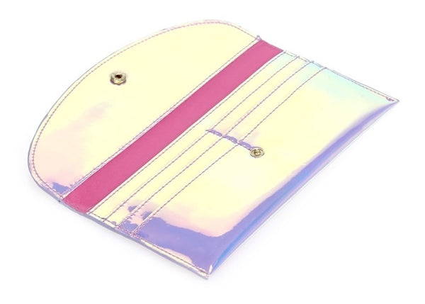 Holographic Envelope Wallet - Pink