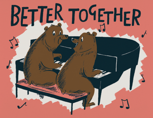 Better Together Bears Greeting Card