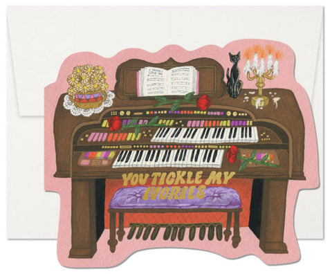 Red Cap Greeting Cards - Tickle My Ivories