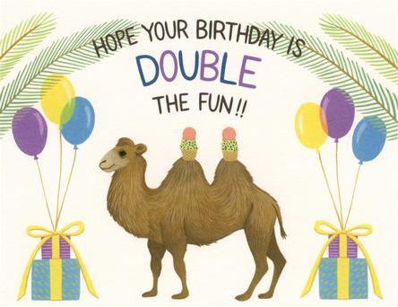 Camel Double The Fun - Yeppie Paper Greeting Card - Ottawa, Canada