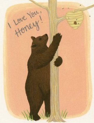 Honey Bear - Yeppie Paper Greeting Card - Ottawa, Canada