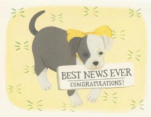 Yeppie Paper Greeting Card - Pitbull Baby