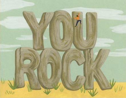 Yeppie Paper Greeting Card - You Rock