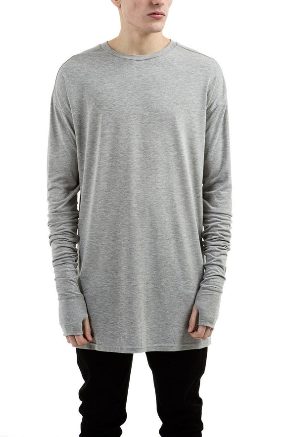 Long-line Glove T-shirt Grey