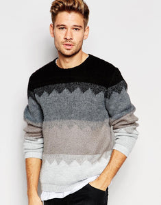 Jumper with Brushed Zig Zag Design