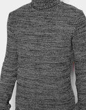 Roll Neck Jumper in Twist Yarn