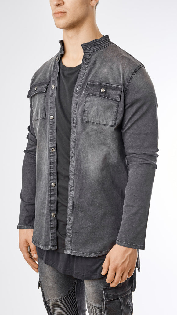 Stone Wash Denim Shirt