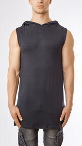 Under Armour Hooded Muscle Tee - Black