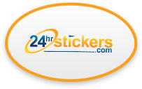 Oval Stickers - 24hrstickers