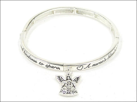 Nurse's Blessing Stretch Bracelet - AB2877LF-AS