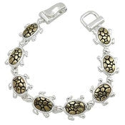 Sealife Sea Turtle Magnetic Bracelet - AB3433-TT