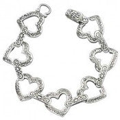 Open Heart Magnetic Bracelet - AB3518-AS