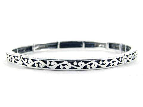 Stackable Stretch Thin Bracelet - AB5287-AS