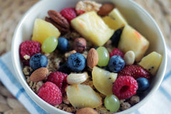 fruit nuts healthy breakfast