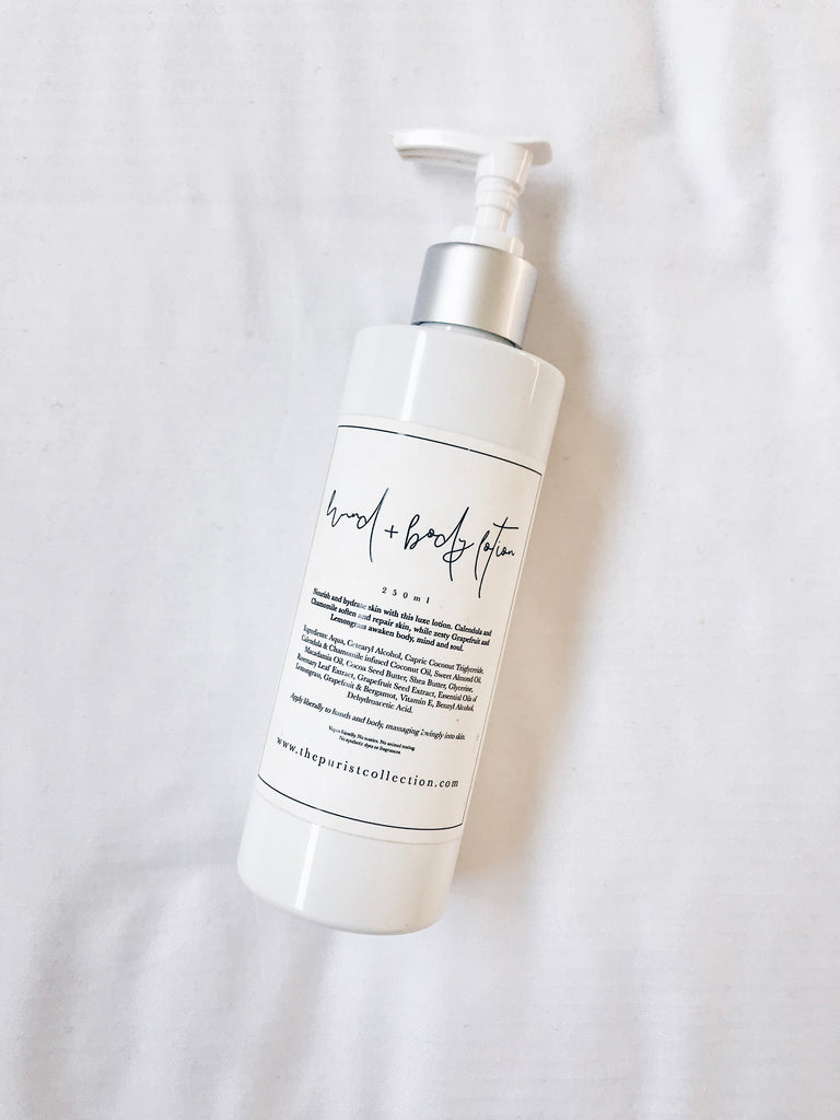 Soften, soothe + protect skin, while adding a natural glow + restoring hydration, with this luxurious lotion.
