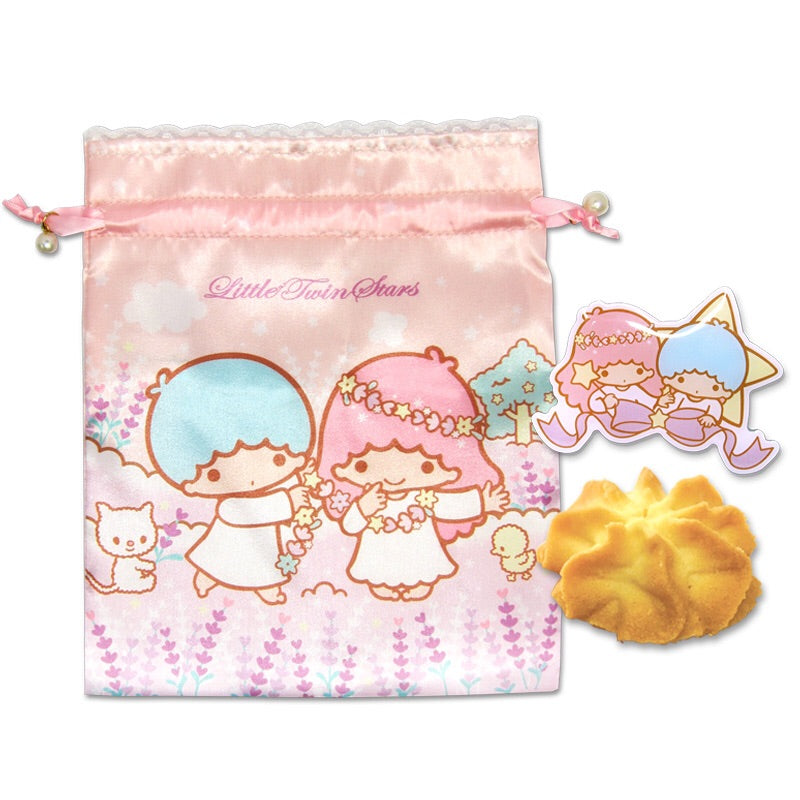 TS - Little Twin Stars Cookies with Pin & Straw Bag