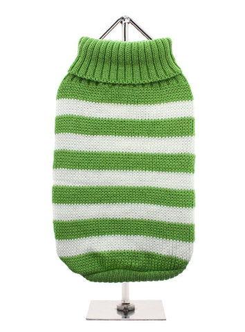 GREEN WHITE CANDY STRIPE JUMPER