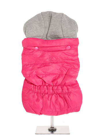 HOT PINK BODY WARMER WITH HOOD