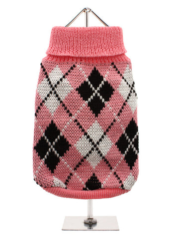 PINK BLACK ARGYLE JUMPER