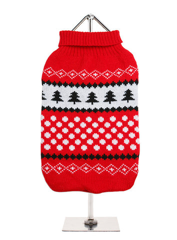 RED WHITE SNOWBALL JUMPER