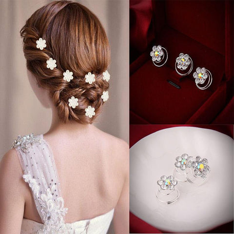 12 Pcs Delicate Bride Hair Pins Headwear Shiny Hair Pins Headwear Wedding Hairpins Hair Accessories