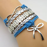 Bracelet - Infinity Love Blue & Silver Wedding Party Bracelets - 50% Off Sale