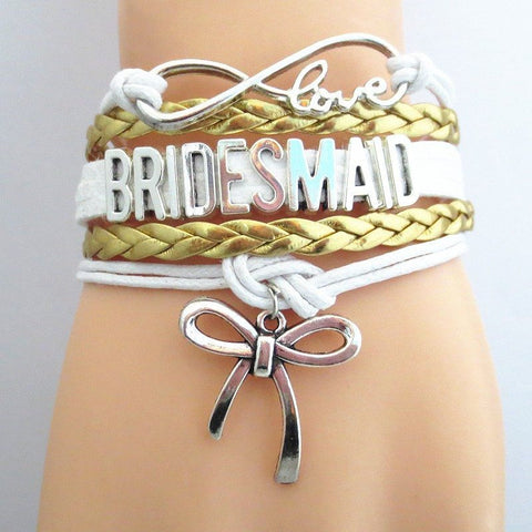 Bracelet - Infinity Love Bridesmaid Bracelet (GOLD)