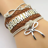 Bracelet - Infinity Love Brown-Tan Country Wedding Party Bracelets