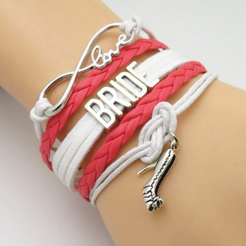 Bracelet - Infinity Love Corel Wedding Bride Bracelets - 50% Off Sale