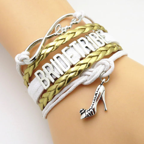 Infinity Love Gold Wedding Bridal Party Gift Bracelets - 50% Off ...