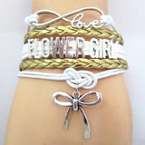 Bracelet - Infinity Love Gold Wedding Bridal Party Gift Bracelets - 50% Off