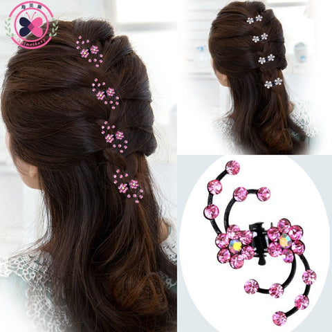 Hairpin - 6Pcs Girls Crystal Snowflake Hair Clips Hair Pins Headwear Crystal Accessories