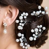 Hot Flower Crystal Hair Clips - Hairpin Trendy Wedding Bridal Pearl Hair Pins Bridesmaid Jewelry