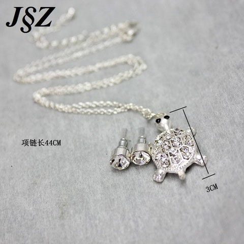Silver plated turtle pendants necklace crystal jewelry blue lion jewelry set silver plated turtle pendants necklace crystal jewelry aloadofball Gallery