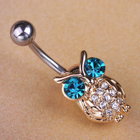 gold belly steel ring clear rings initial dazzled navel rose tone button cute lovetoknow gem letter