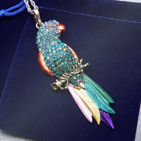 Necklace - Bird Pendant Exquisite Colourful Parrot Pendants Necklace