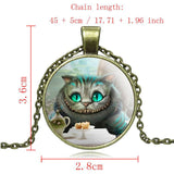 Necklace - Cheshire Cat Pendant Necklace