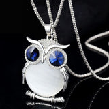 Necklace - Crystal Owl Long Necklace & Chain