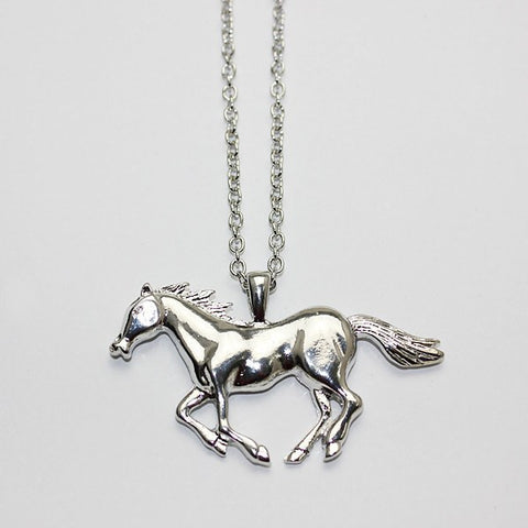 Fashion necklace silvergold jewelry running horse pendant 27 necklace fashion necklace silvergold jewelry running horse pendant 27necklace mozeypictures Image collections